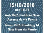Save the Date! On the 15.10.2018 Claudio Vittori Antisari will speak at the Politecnico di Milano